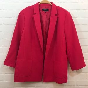 Talbots Blazer Sz 16 Pink 3/4 Sleeve Lined NWOT